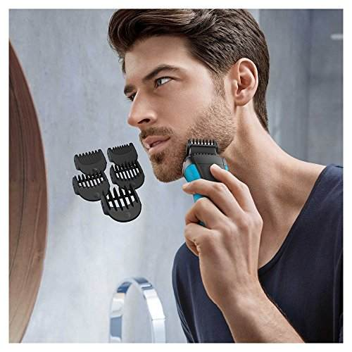 Braun BT3010 Series 3 3 in 1 Electric Shaver With Precision Trimmer & 5 Comb Attachments