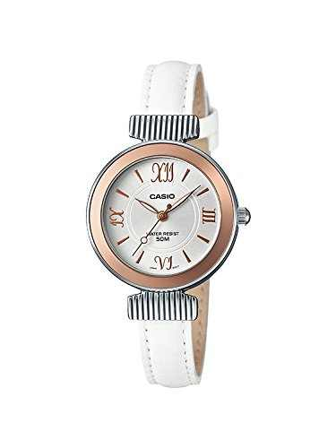 Casio Enticer LTP-E405L-7AVDF (A1140) Ladies Analog White Dial Women's Watch