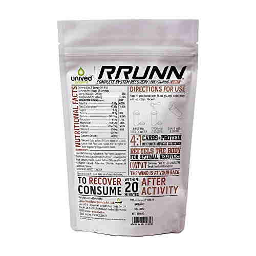 Unived Rrunn Post Recovery Sports Drink Mix (1.2Kg, Vanilla)