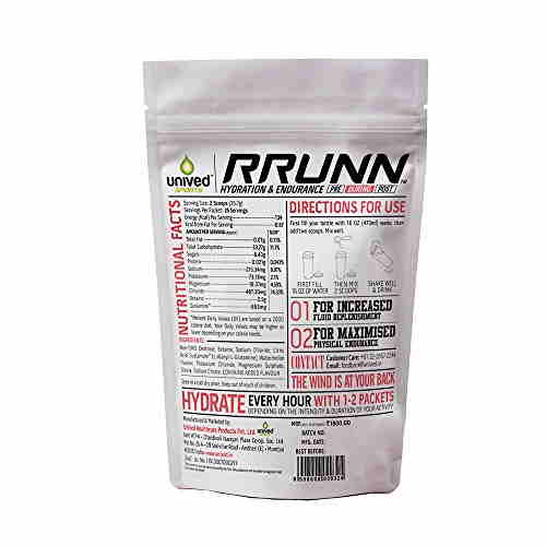 Unived Rrunn During Isotonic Electrolyte Sports Drink Mix (Watermelon, 25 Servings)