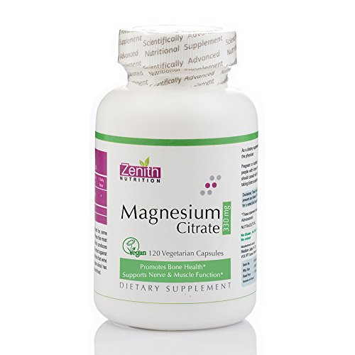 Zenith Nutrition Magnesium Citrate 330mg Supplement (120 Capsules)