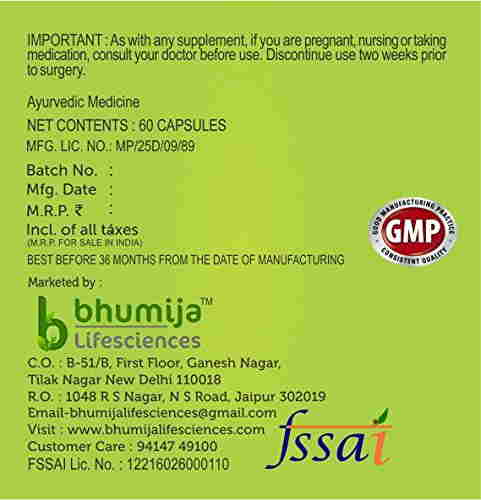 Bhumija Lifesciences Green Coffee Supplement (60 Capsules) - Pack Of 2