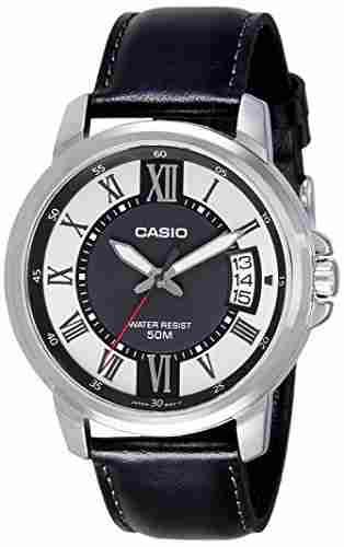 Casio Enticer MTP-E130L-1AVDF (A1167) Analog Black Dial Men's Watch (MTP-E130L-1AVDF (A1167))