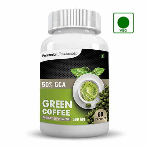 Perennial Lifesciences Pure Green Coffee Extract 50% GCA Supplements (60 Capsules)