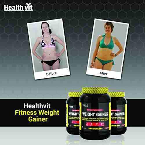 Healthvit Weight Gainer (1Kg, Chocolate)