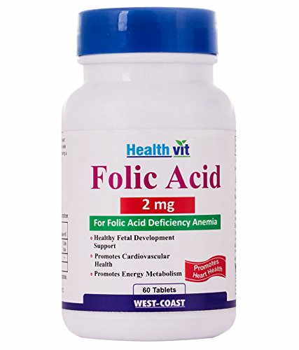 Healthvit Folic Acid 2 mg Supplements (60 Capsules)
