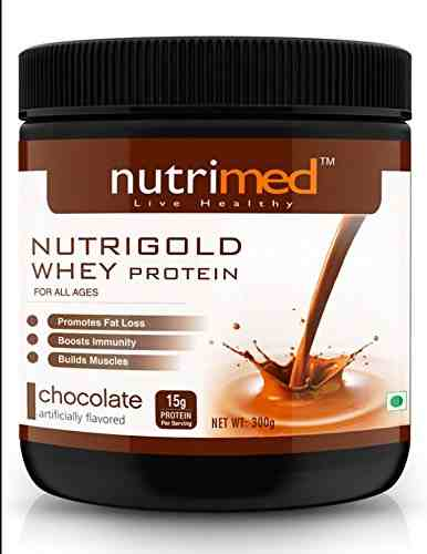 Nutrimed Nutri Gold Whey Protein (300gm, Chocolate)