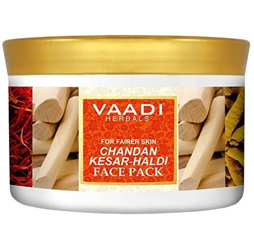 Vaadi Herbals Chandan Kesar and Haldi Face Pack, 600 GM
