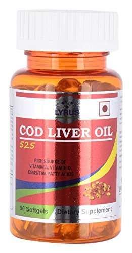 Lyrus Cod Liver Oil 525 Supplement (90 Softgels)