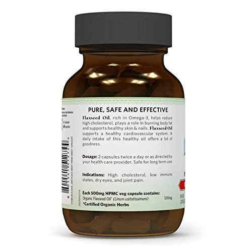Organic India Flaxseed Oil (60 Capsules)