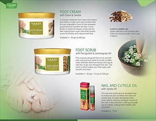 Vaadi Herbals With Clove & Sandal Oil Foot Cream (500gm)