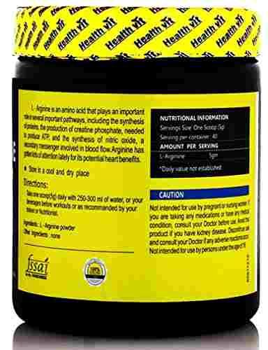 Healthvit L-Arginine Amino Acid Powder (200gm)