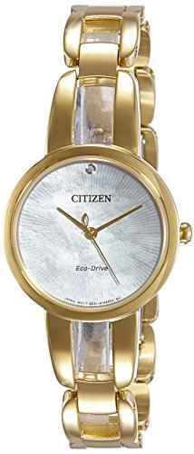 Citizen EM0432-80Y Analog Mother Of Pearl Dial Women's Watch