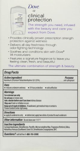 Dove Clinical Protection Soothing Chamomile Antiperspirant Deodorant 50 ml