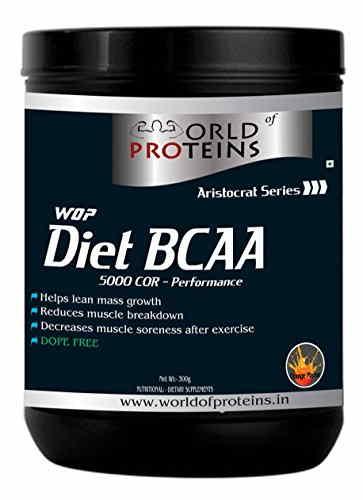 WOP Diet BCAA Protein Supplement (300gm, Orange)