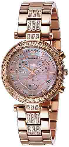 Swiss Eagle SE-9095B-RG-08 Rose Analog Watch
