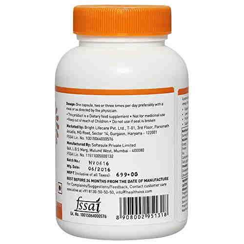 Healthviva Omega3 Fish Oil 1000mg Supplement (60 Capsules) - Pack Of 2
