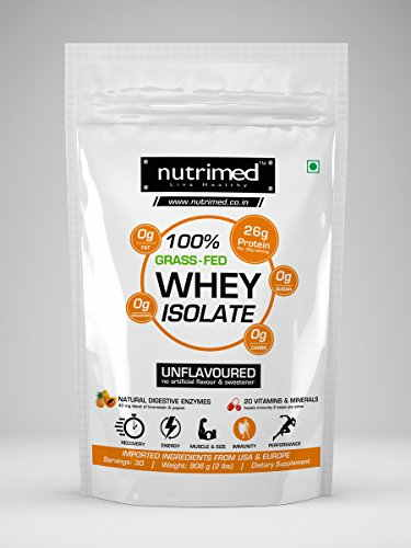 Nutrimed 100% Grass Feed Whey Isolate (908gm)