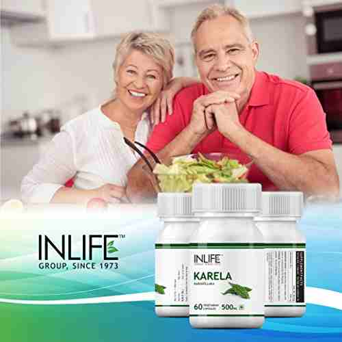 Inlife Karela Karavellaka 500mg Supplement (60 Capsules) - Pack Of 3
