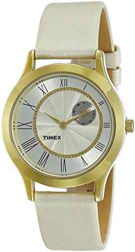 Timex TW000Q813 Fashion Analog White Dial Color Women's Watch (TW000Q813)