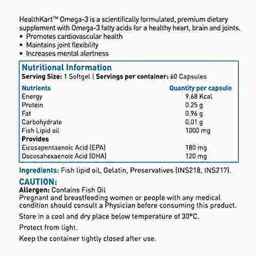 Healthkart Omega 3 Supplement (60 Capsules)
