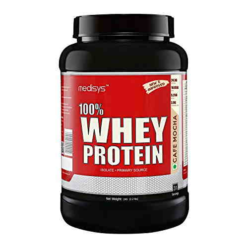 Medisys 100% Whey Protein (1Kg, Cafee)