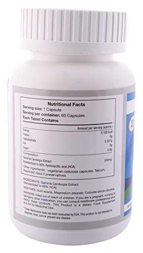 Lyrus Garcinia Cambogia Extract 500mg (60 Capsules)