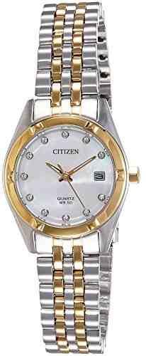 Citizen EU6054-58D Analog Mother Of Pearl Dial Women's Watch (EU6054-58D)