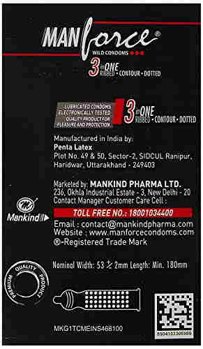 Manforce Strawberry Condoms (10 Condoms)