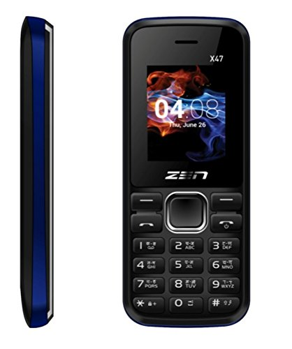 ZEN X47 Fire Black & Blue Mobile