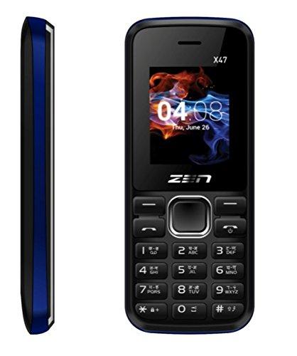 ZEN X47 Fire Black & Blue Mobile