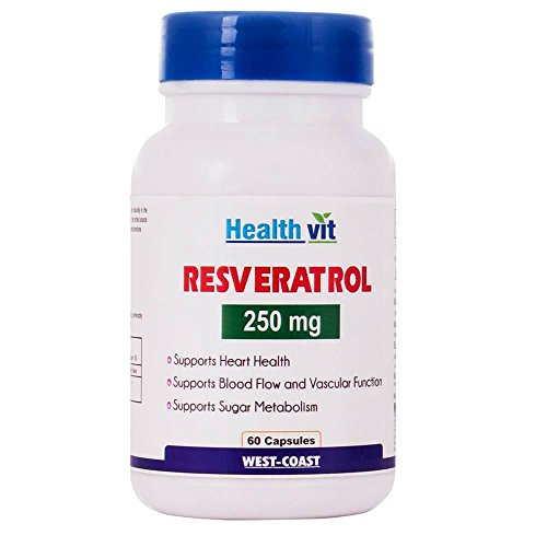 Healthvit Resveratol 250mg Supplements (60 Capsules)
