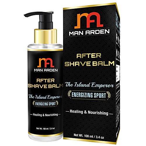 Man Arden After Shave Balm Island Emperor Healing & Nourishing Silk Protein Jojoba Oil 100 ml