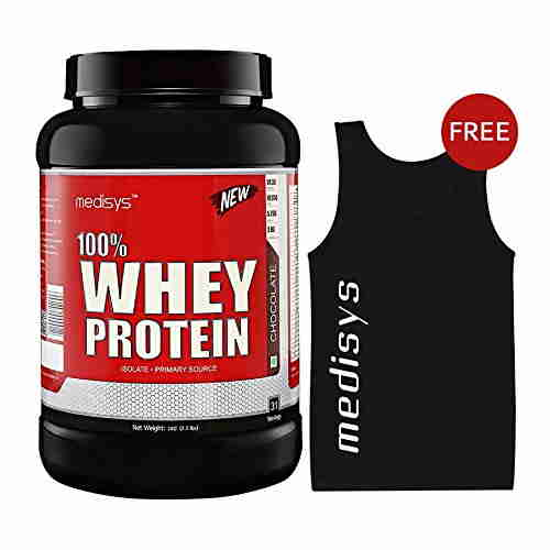 Medisys 100% Whey Protein (1Kg / 2.2lbs, Chocolate)
