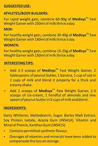Medisys Fast Weight Gainer (3Kg / 6.61lbs, Chocolate)
