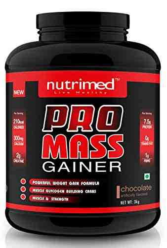 Nutrimed Pro Mass Gainer (3Kg, Chocolate)