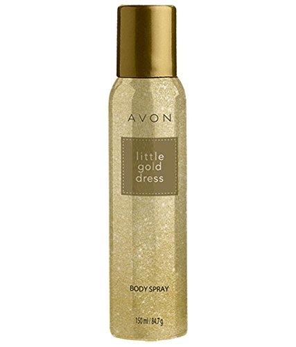 Avon Little Gold Dress Body Spray for Unisex, 150 ml