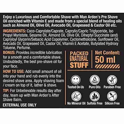 Man Arden Pre Shave Oil Maverick Hydrating & Calming, 50 ML