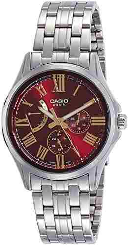 Casio Enticer MTP-E311DY-4AVDF (A1194) Analog Red Dial Men's Watch