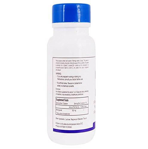 Healthvit Moringa 500 mg Supplements (60 Capsules)