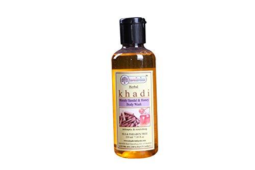 KHADI RISHIKESH Herbal Sandal Wood & Honey Body Wash - 210Ml Pack