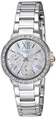 Casio Sheen SHE-3052D-7AUDR (SX186) Analog Silver Dial Women's Watch