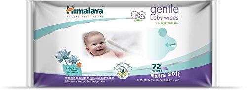Himalaya Gentle Baby Wipes, 72 Pieces