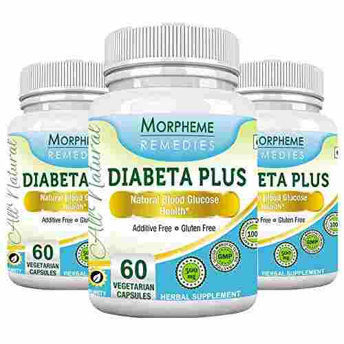Morpheme Remedies Diabeta Plus 500mg Extract Supplement (60 Capsules) - Pack Of 3
