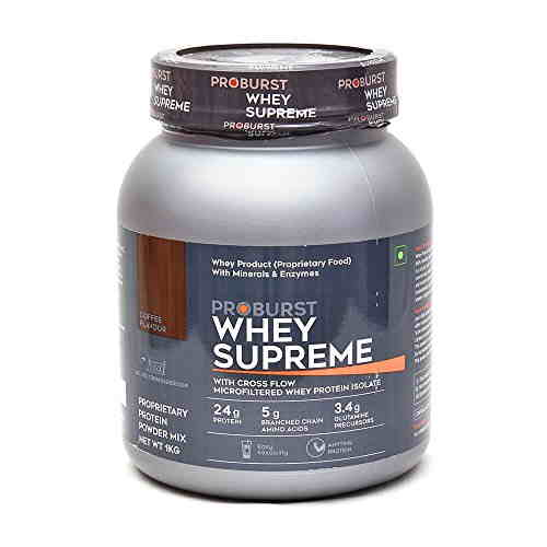 Proburst Whey Supreme Protein (1Kg, Coffee)