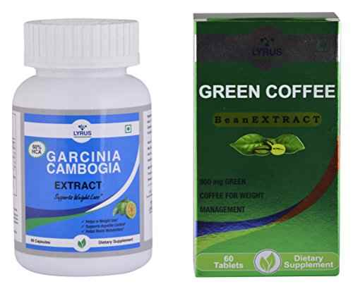 Lyrus Combo Of Garcinia Cambogia And Green Coffee Bean Supplement (60 Capsules)