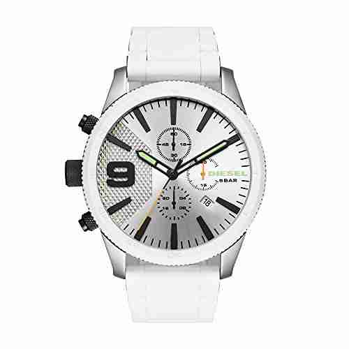 Diesel DZ4449 Rasp Chrono White Stainless Steel and Silicone Men's Watch
