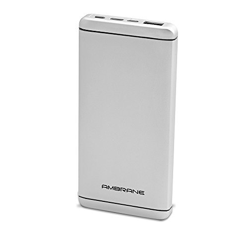 Ambrane Plush PQ-800 8000mAh Power Bank (Silver)