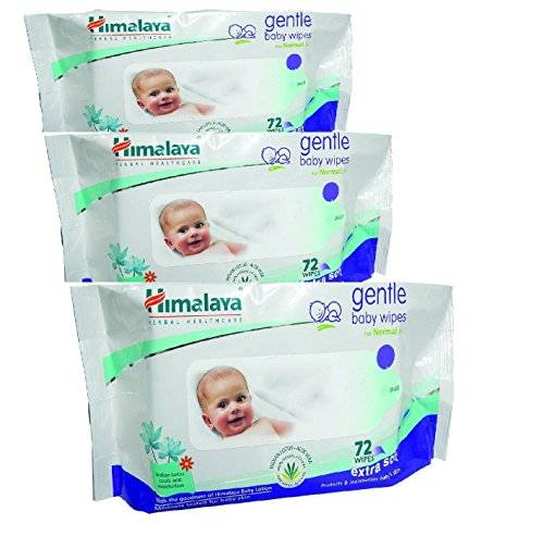 Himalaya Baby Care Baby Wipes, 72 Pieces (Pack of 3)
