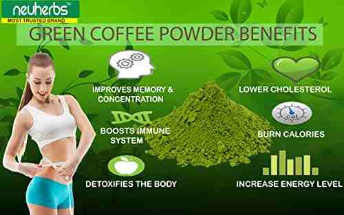 Neuherbs Organic Green Coffee Beans (0.45lbs, Coffee)